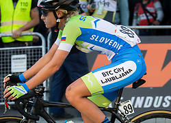 Arrival  of ZIGART Urska of Slovenia during the Women's Elite Road Race a 156.2km race from Kufstein to Innsbruck 582m at the 91st UCI Road World Championships 2018 / RR / RWC / on September 29, 2018 in Innsbruck, Austria. Photo by Vid Ponikvar / Sportida