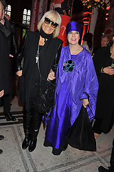 Left to right, BARBARA HULANICKI and MOLLY PARKIN at a private view of Ballgowns: British Glamour Since 1950 at the V&A museum, London on 15th May 2012.