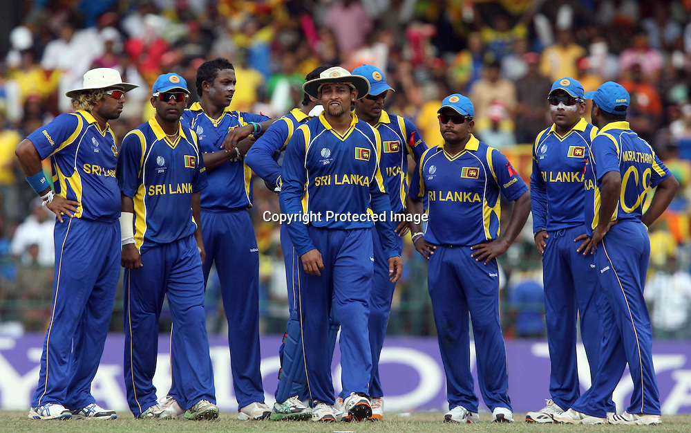 Sri Lankan players England during the ICC Cricket World Cup - 4th Quarter-Final Played at R Premadasa Stadium, Colombo