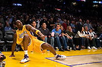 27 March 2007: Guard Kobe Bryant of the Los Angeles Lakers gets up after having his shot blocked to lose the game against the Memphis Grizzlies during the second half of the Grizzlies 88-86 victory over the Lakers at the STAPLES Center in Los Angeles, CA.