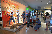 """TAIYUAN, CHINA - JULY 28: (CHINA OUT) <br /><br />Mall employees reenact WWII executions of Japanese soldiers to promote sales<br /><br />A shopping mall in Taiyuan, Shanxi Province sparked controversy and confusion when they had their workers don """"Eight Route Army"""" uniforms and reenact WWII executions of Japanese soldiers to promote sales. According to the manager, the mall started this """"anti-Japanese themed"""" promotion during the anniversary of the Japanese invasion of China on July 7th, to allow customers to reminisce/sell clothes. Because apparently not even sensitive chapters of history are off-limits when it comes to facilitating consumer spending. Not to mention that it makes about as much sense as Wal-Mart reenacting Omaha Beach in the furniture aisle to spur sales of bean bag chairs.<br />This might be even worse than the time Harbin installed Japanese soldier urinals to """"promote pissing."""" <br />©Exclusivepix"""