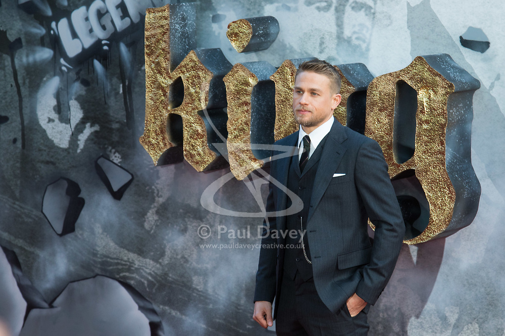 London, May 10th 2017. Charlie Hunnam attends the European premiere of King Arthur - Legend of the Sword at the Cineworld Empire in Leicester Square.