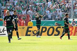 19.08.2012, Preußenstadion, Muenster, GER, DFB Pokal, SC Preussen Muenster vs SV Werder Bremen, 1. Runde, im Bild Sokratis Papastathopoulos (Bremen, Mitte) unzufrieden/ enttäuscht/ enttaeuscht/ niedergeschlagen // during German DFP Pokal 1st round match between SC Preussen Muenster and SV Werder Bremen at the Preußenstadion, Muenster, Germany on 2012/08/19. EXPA Pictures © 2012, PhotoCredit: EXPA/ Eibner/ Titgemeyer..***** ATTENTION - OUT OF GER *****