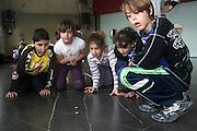 Recycling awareness workshop in Torreguitart school, Sabadell (Catalonia).