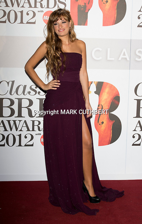 Nicola Benedetti arriving at the 2012 Classic Brit Awards at the Royal Albert Hall in London.
