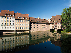 The Heilig Geist Spital or Holy Ghost Hospital in Nuremberg in Bavaria Germany