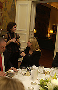 Mollie Dent-Brocklehurst and Iwona blazwick, Dinner at the Italian Embassy in which the winner of the MaxMara Art Prize for Women is announced. Grosvenor Sq. London . 2 February  2006. © Copyright Photograph by Dafydd Jones 66 Stockwell Park Rd. London SW9 0DA Tel 020 7733 0108 www.dafjones.com