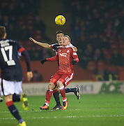 Dundee&rsquo;s Cammy Kerr and Aberdeen&rsquo;s Jonathan Hayes - Aberdeen v Dundee in the Ladbrokes Scottish Premiership at Pittodrie, Aberdeen - Photo: David Young, <br /> <br />  - &copy; David Young - www.davidyoungphoto.co.uk - email: davidyoungphoto@gmail.com