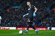 Leeds United goalkeeper Francisco Casilla (13) passes the ball during the EFL Sky Bet Championship match between Leeds United and Queens Park Rangers at Elland Road, Leeds, England on 2 November 2019.