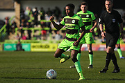 Forest Green Rovers Reece Brown(10) on the ball during the EFL Sky Bet League 2 match between Forest Green Rovers and Milton Keynes Dons at the New Lawn, Forest Green, United Kingdom on 30 March 2019.