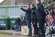 Forest Green Rovers manager, Mark Cooper during the EFL Sky Bet League 2 match between Forest Green Rovers and Mansfield Town at the New Lawn, Forest Green, United Kingdom on 24 March 2018. Picture by Shane Healey.