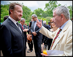 Image ©Licensed to i-Images Picture Agency. 08/07/2014. London, United Kingdom. Martin Bell and President of Bosnia and Herzegovina  Bakir Izetbegovic at the Srebrenica Memorial Reception at Lancaster House. Picture by Andrew Parsons / i-Images