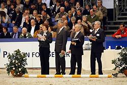 Jury: Hamoen Arie,Jilsen Dion, Van Woudenbergh Reijer<br /> KWPN Hengstenkeuring - 's Hertogenbosch 2008<br /> Photo © Hippo Foto