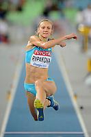 ATHLETICS - IAAF WORLD CHAMPIONSHIPS 2011 - DAEGU (KOR) - DAY 6 - 01/09/2011 - PHOTO : STEPHANE KEMPINAIRE / KMSP / DPPI - <br /> TRIPLE JUMP - WOMEN - FINALE - SILVER MEDAL - OLGA RYPAKOVA (KAZ)