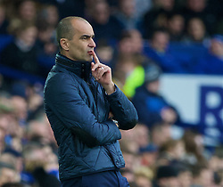 LIVERPOOL, ENGLAND - Sunday, January 24, 2016: Everton's manager Roberto Martinez during the Premier League match against Swansea City at Goodison Park. (Pic by David Rawcliffe/Propaganda)
