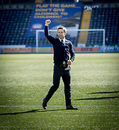 Dundee&rsquo;s interim manager Neil McCann salutes the traveleing support - Kilmarnock v Dundee in the Ladbrokes Scottish Premiership at Rugby Park, Kilmarnock, Photo: David Young<br /> <br />  - &copy; David Young - www.davidyoungphoto.co.uk - email: davidyoungphoto@gmail.com