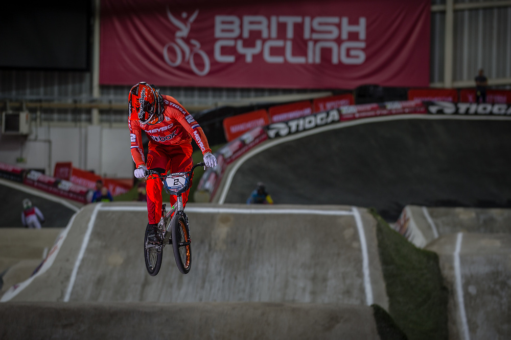 #2 (VAN GORKOM Jelle) NED at the 2016 UCI BMX Supercross World Cup in Manchester, United Kingdom<br /> <br /> A high res version of this image can be purchased for editorial, advertising and social media use on CraigDutton.com<br /> <br /> http://www.craigdutton.com/library/index.php?module=media&pId=100&category=gallery/cycling/bmx/SXWC_Manchester_2016