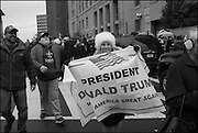 Public going to the Inauguration of Donald Trump and demonstrators and various entrances,  Washington DC. 20  January 2017