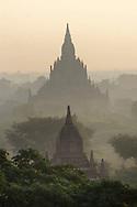 Temples in Bagan Myanmar sunrise