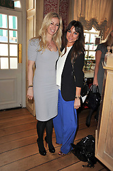 Left to right, JENNY HALPERN-PRINCE and JORDANA REUBEN at a lunch hosted by Roger Viver in honour of Bruno Frisoni their creative director, held at Harry's Bar, 26 South Audley Street, London on 31st March 2011.