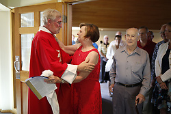 Pastor Paul Hegele gives his last sermon, Sunday, May 24, 2015 at Ascension Lutheran Church in Louisville .