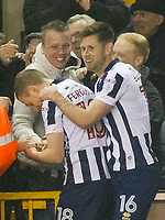 Football - 2016 / 2017 FA Cup - Third Round: Millwall vs. AFC Bournemouth<br /> <br /> Shane Ferguson of Millwall celebrates scoring his team's third goal with fans in the crowd, at The Den.<br /> <br /> COLORSPORT/WINSTON BYNORTH