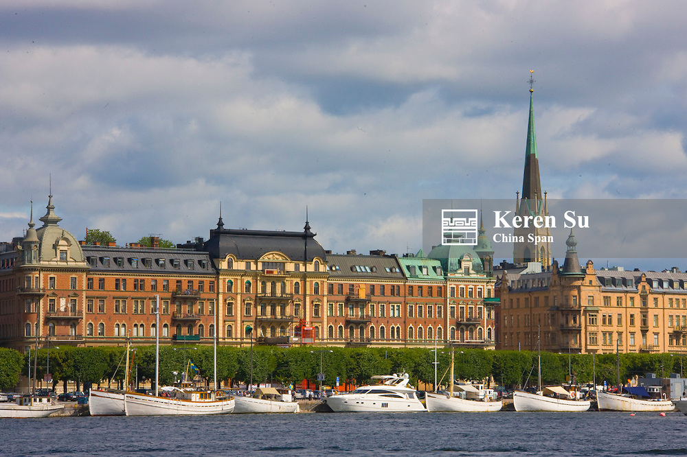 Row houses along the waterfront, Stockholm, Sweden