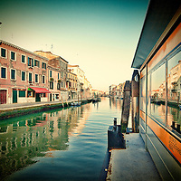 View from canal in Venice Italy
