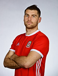 NANNING, CHINA - Saturday, March 24, 2018: Wales' Sam Vokes during a squad photo shoot at the Wanda Realm Hotel on day five of the 2018 Gree China Cup International Football Championship. (Pic by David Rawcliffe/Propaganda)