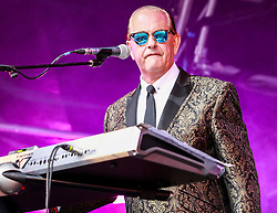 Pictured: 80's electronic legends Heaven 17 on the main stage at Party at the Palace in Linlithgiw. Andrew West/ EEm