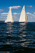 Gleam and Northern Light, 12 Meter Class, the Best Life Museum of Yachting Classic Yacht Regatta