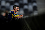Sam Anderson Heather of Otago looks on during the Mitre 10 Competition match between Otago and Wellington at Forsyth Barr Stadium on August 25, 2016 in Dunedin, New Zealand. Credit: Joe Allison / www.Photosport.nz