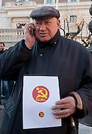 Roma, 11 Gennaio 2013.In fila per depositare i simboli dei partiti al ministero dell'Interno  in vista del voto..La  lista Partito Comunista Italiano marxista leninista..
