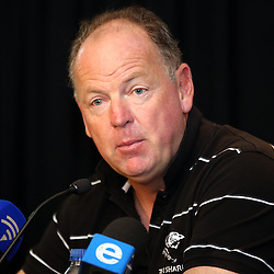DURBAN, SOUTH AFRICA - APRIL 17 Jake White (Sharks Director of Rugby) of the Cell C Sharks  during the Cell C Sharks press conference at Growthpoint Kings Park on April 17, 2014 in Durban, South Africa. (Photo by Steve Haag/Gallo Images)