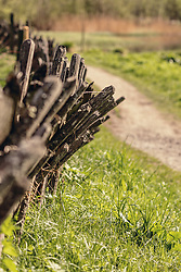 THEMENBILD - ein traditioneller Pinzgauer Holzzaun am Wegrand in der Nähe des Klammsee, aufgenommen am 02. Mai 2019, Kaprun, Österreich // a traditional Pinzgauer wooden fence along the path near the Klammsee lake on 2019/05/02, Kaprun, Austria. EXPA Pictures © 2019, PhotoCredit: EXPA/ Stefanie Oberhauser