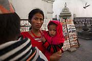 Swayambunath (Monkey Temple), Kathmandu, Nepal. November 2010