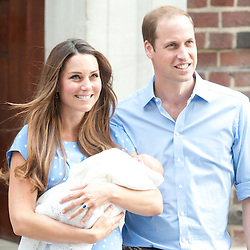 The Duke and Duchess of Cambridge give birth to a Prince George at St Mary's Hospital in London.