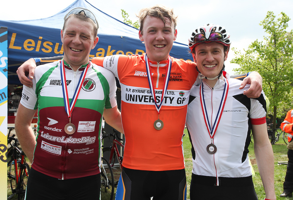 In photo from left: Darren Perry, second, Matthew Clarke, first, Daniel Richardson, third.<br /> <br /> Picture by: Shawn Ryan