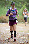 Kerhonkson, New York - Jennifer Finnegan runs through Minnewaska State Park Preserve during the Shawangunk Ridge Trail Run/Hike 20-mile race on Sept. 20, 2014.