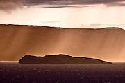 6264 HI ~ Maui, Molokini at dusk during a rain