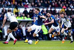 Sam Gallagher of Blackburn Rovers takes on Matthew Clarke of Derby County - Mandatory by-line: Robbie Stephenson/JMP - 08/03/2020 - FOOTBALL - Pride Park Stadium - Derby, England - Derby County v Blackburn Rovers - Sky Bet Championship