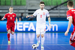 Dominik Solecki of Poland during futsal match between Russia and Poland at Day 1 of UEFA Futsal EURO 2018, on January 30, 2018 in Arena Stozice, Ljubljana, Slovenia. Photo by Urban Urbanc / Sportida
