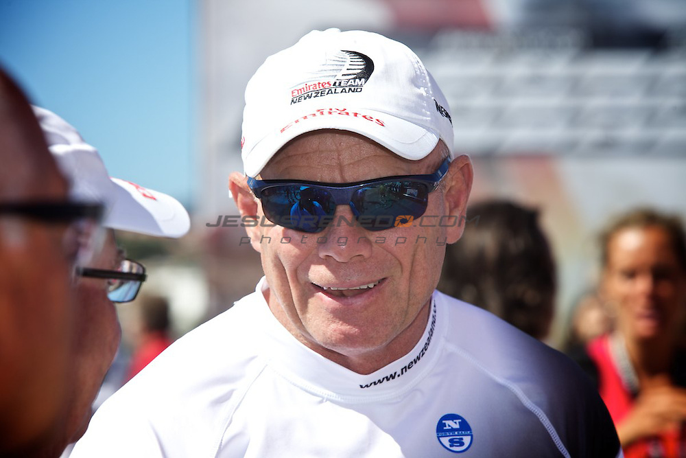 AC World Series,Cascais,Portugal,8/ 7/2011.Grant Dalton CEO of EmiratesTeam New Zealand