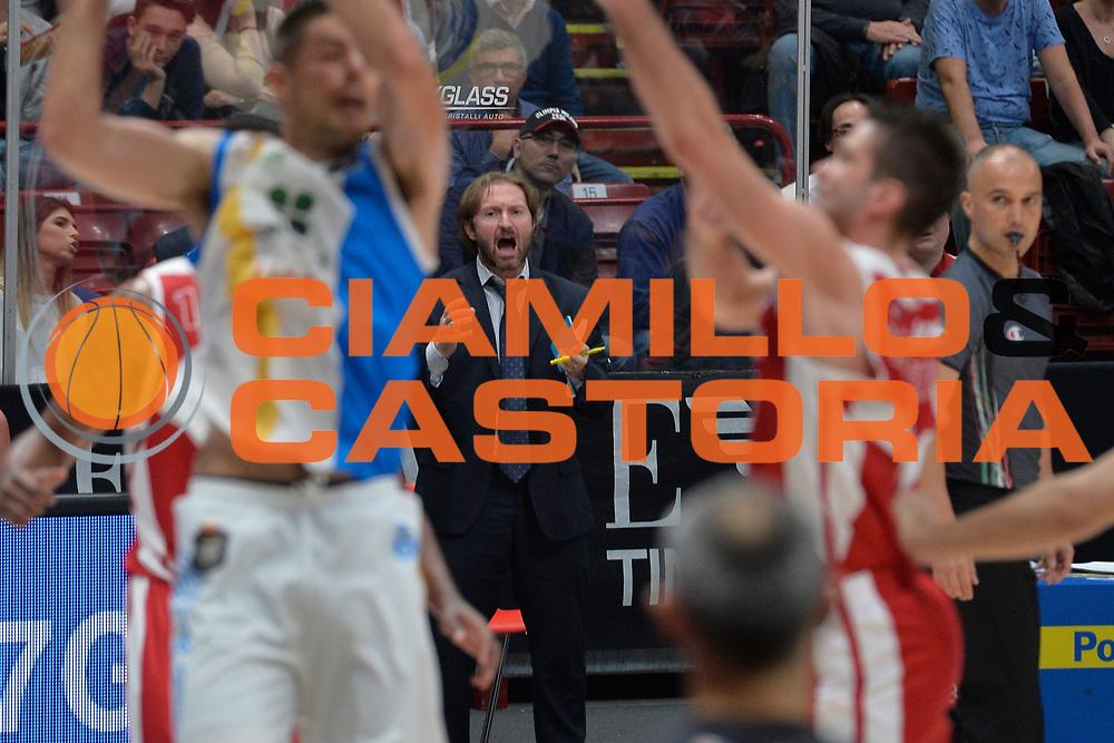 Flavio Fioretti<br /> Olimpia EA7 Emporio Armani Milano vs Vanoli Cremona<br /> Lega Basket Serie A 2016/2017<br /> PlayOff semifinale gara 2<br /> Milano 14/05/2017<br /> Foto Ciamillo-Castoria / I.Mancini