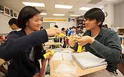 Kay Kubena teaches an AP Math class at Bellaire High School, April 24, 2013.