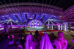 KUEHNER Max (AUT), DEUSSER Daniel (GER), BOST Roger Yves (FRA)<br /> Doha - CHI Al SHAQAB 2020<br /> Siegerehrung<br /> Commercial Bank CHI Al Shaqab Grand Prix presented by LONGINES<br /> Int. jumping competition over two rounds and jump-off (1.60 m)<br /> 29. Februar 2020<br /> © www.sportfotos-lafrentz.de/Stefan Lafrentz