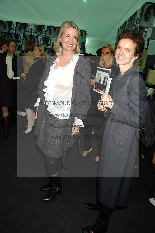 Left to right, HILARY WESTON and BETTINA VON HASE at the opening of Frieze Art Fair 2007 held in regent's Park, London on 10th October 2007.<br /><br />NON EXCLUSIVE - WORLD RIGHTS