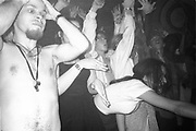 Hypnotised by music, Dream FM Pirate Radio Benefit, Labyrinth Dalston, London, 1994.