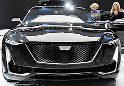 Nov 16, 2016. Los Angeles CA. Cadillac concept car ESCALA on display, during the media day at the Los Angeles Auto show Wednesday. The show opens to the public on Nov 18th to the 27th.  photos by Gene Blevins/LA DailyNews/ZumaPress. (Credit Image: © Gene Blevins via ZUMA Wire)