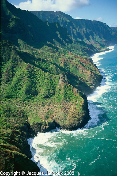Aerial view of Na Pali Coast, Kauai, Hawaii, USA